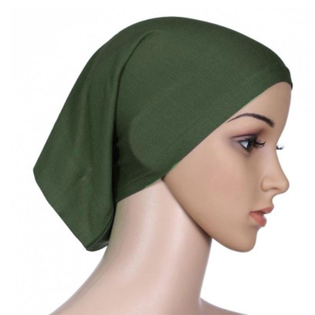 Women  Full Cover Muslim Headscarf Islamic Head Wear Underscarf Shawls Hijabs Solid Colors women Plain