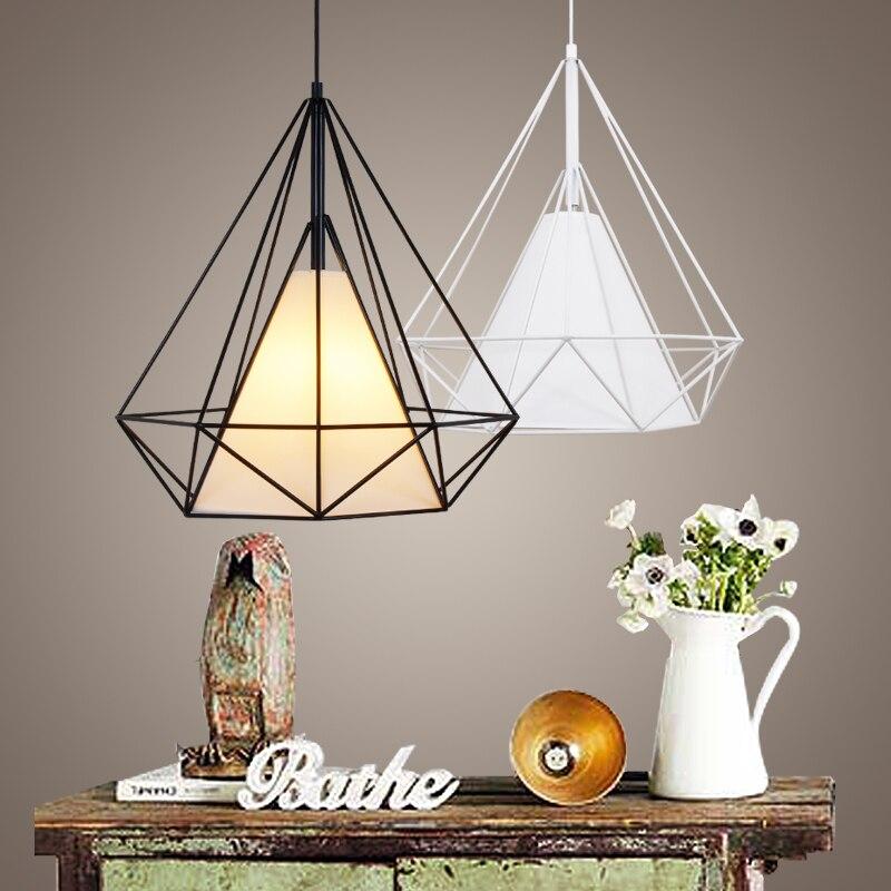 buy modern metal birdcage pendant light black minimalist pendant lamp e27. Black Bedroom Furniture Sets. Home Design Ideas