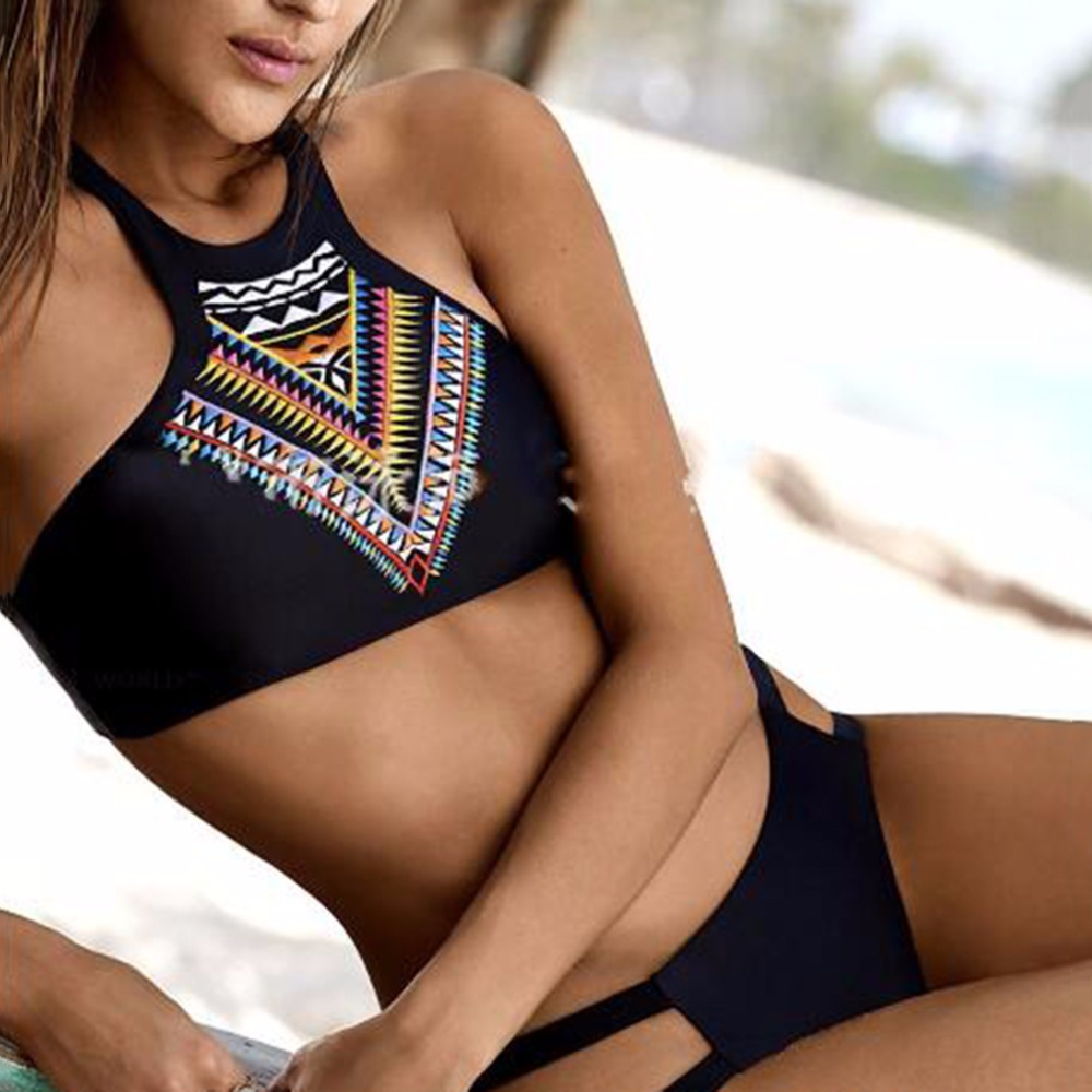 Trendy Charming Women Lady Summer Beach Sexy Bikini Set Special Swimwear Swimsuit Beach Bathing Suit Black Hot Sale-In Bikinis Set From Sports -7781