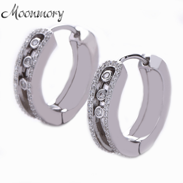 2017 Authentic 925 Sterling Silver Earring For Woman Wedding Engagement France Fashion Stye Jewelry With Clear Cubic Zirconia