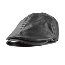 7338cd7bb8 Cap Uomini Solido Berretto Casual in pelle berretti cappello casquettes  berretto homme per le donne maschio