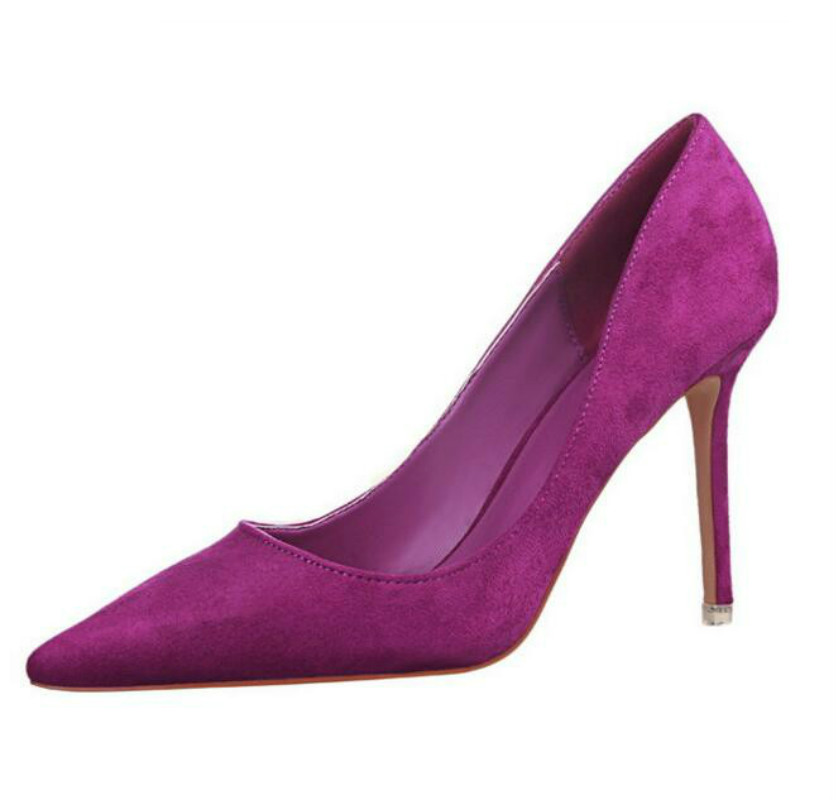 Women Pumps Fashion Sexy Thin Heel High-heeled Pointed Shoes Career Shoes