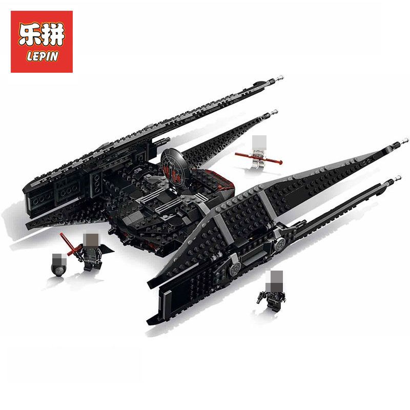 Lepin 05127 705Pcs The Kylo Rens Tie Fighter Set Star Wars Series LegoINGly 75179 Model Building Blocks Bricks toys for children
