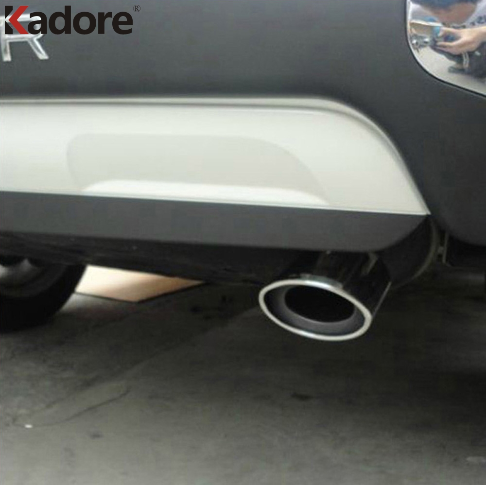 For toyota Highlander 2007-2012 Rear Exhaust Muffler Pipe Tail Tip End Cover Trim Stainless Steel Car Silencer Accessories