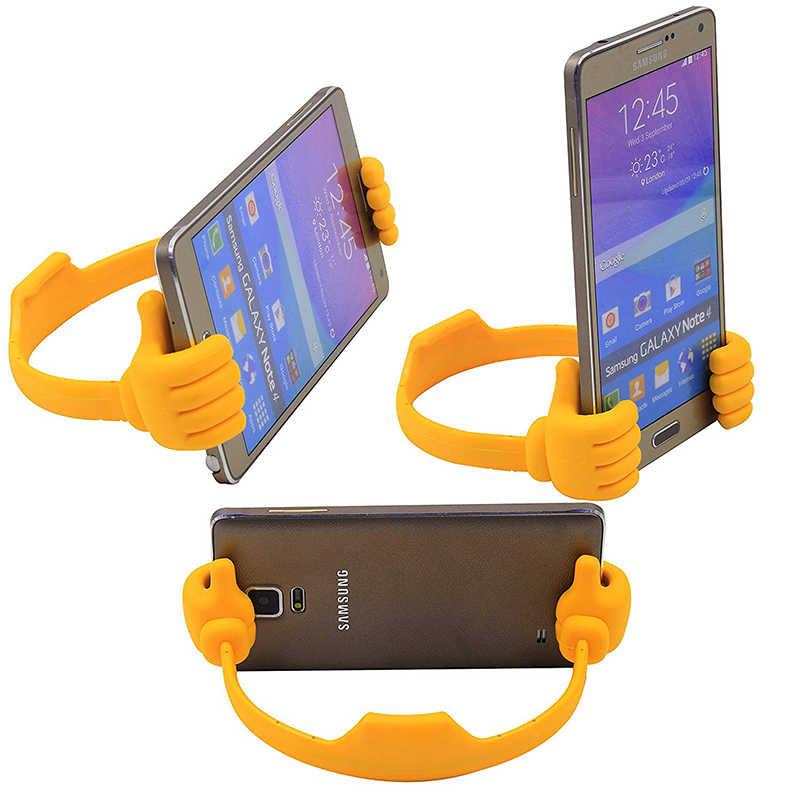 Fimilef Universal Faul Tabletten Telefon Halter Flexible Mobile Handy Schreibtisch Desktop Tisch Halterung Ständer Tragbare Daumen Halterung