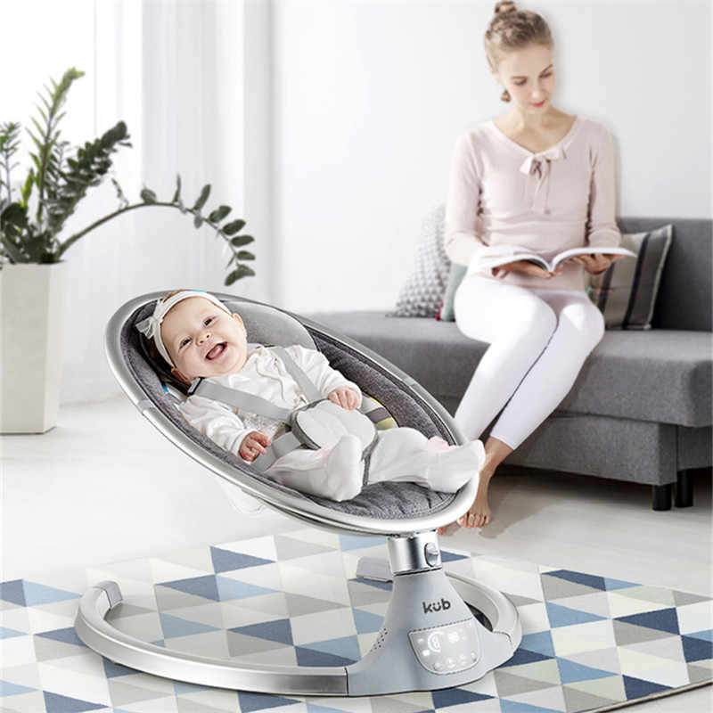 BABY JOY Baby Swing Blue Toys Bluetooth Baby Rocker w//Removable Crib Netting Music USB Electric Cradling Bouncer w// 5 Swing Amplitudes /& Timing Function for Newborn Infant 5-Point Harness