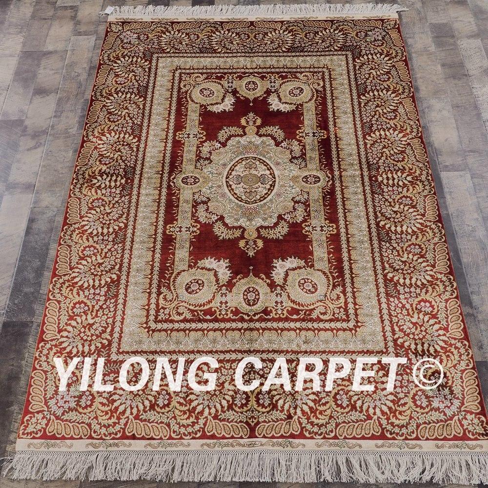 Yilong 4 X6 Handgefertigten Persischen Rot Teppiche Turkische