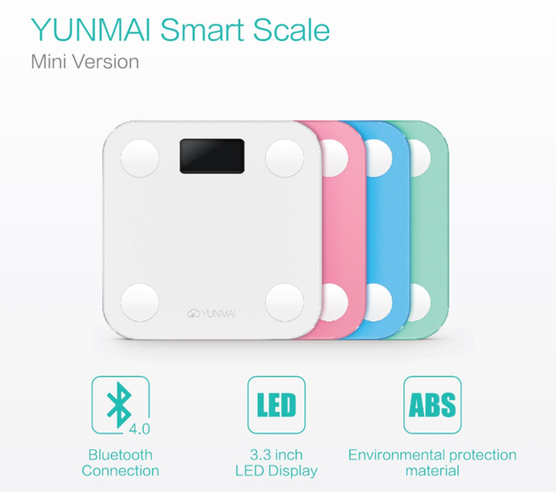 Cheap Bathroom Scales Free Delivery: 9 Discount Hot Promotion!Original YUNMAI Mini Smart