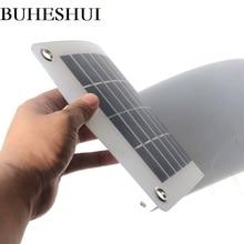 BUHESHUI 10 Вт 18 В в В 12 В полугибкий поликристаллический кремния панели солнечные ячейки DC модуль для 12vol DIY батарея телефон адаптер Комплект