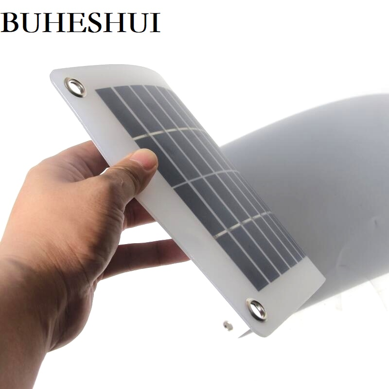 BUHESHUI 10W 18V 12V Semi-flexible Polycrystalline Silicon Solar Panel cell DC Module For 12vol DIY Battery phone adapter kit image