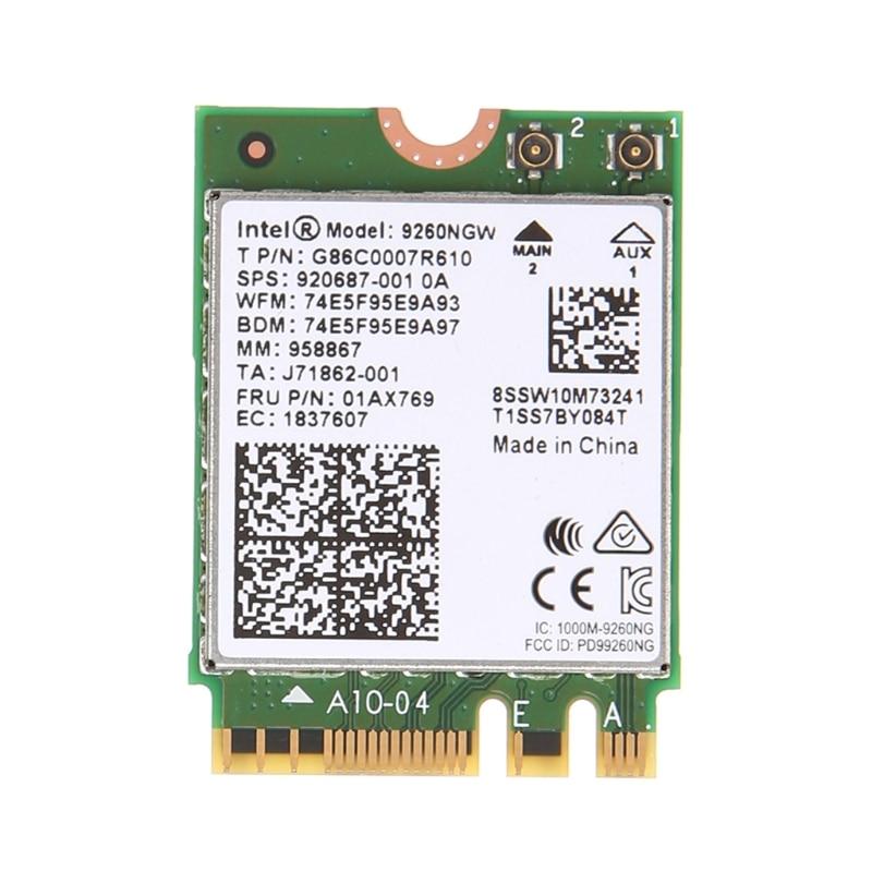 For Intel Wireless-AC 9260NGW Bluetooth NGFF Dual Band 802.11ac 1730M WiFi Card