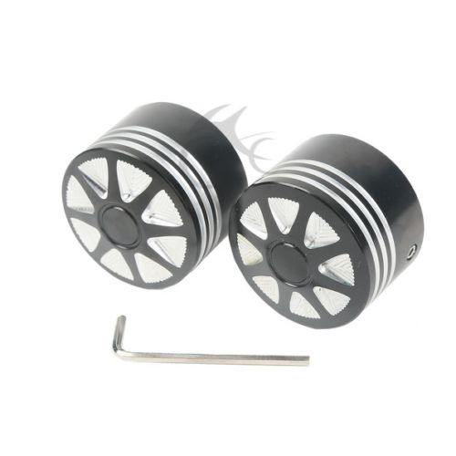 Black Front Axle Nut Cover Bolt For Harley Touring Softail Road King Glide FLTR Dyna Electra Glide FLHX