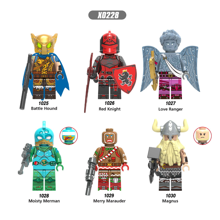 LegoINGly Fortnited TPS Action Figure Battle Hound Red Knight Love Ranger Magnus Building Blocks Kids Toys For Children X0228