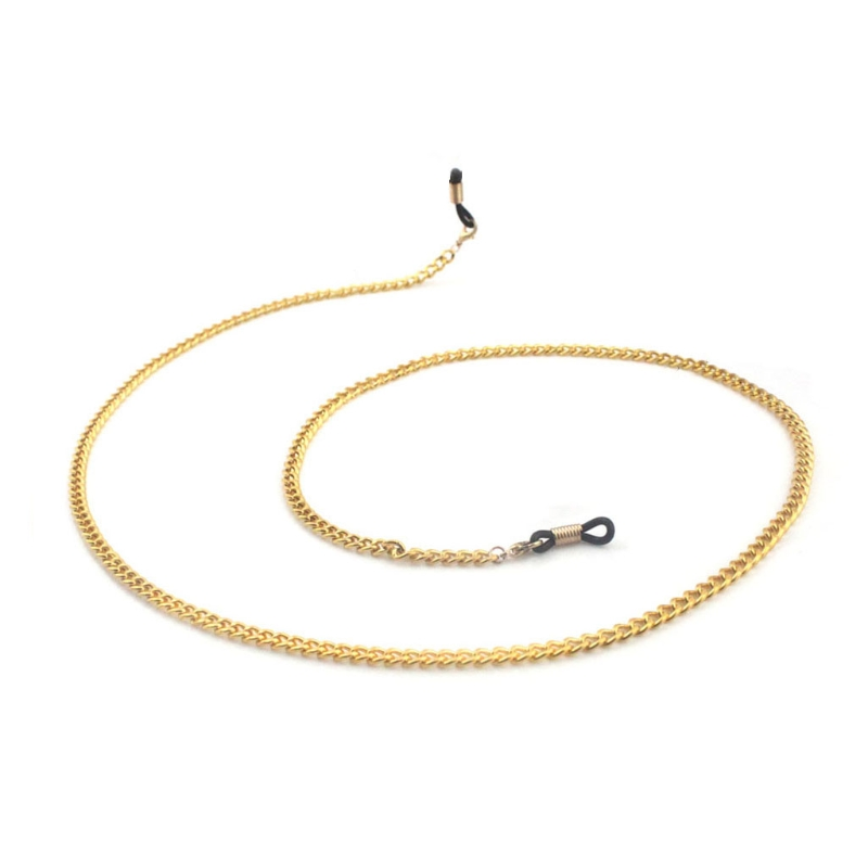 Reading Glasses Chain Holder Fashion Sunglasses Simple Men Neck Metal Strap Gold High Quality