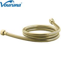 2018 Wholesale New Arrival High Quality Luxurious Golden Shower Hose Gold Plumbing Shower Tube Replacement 1.5 Meters
