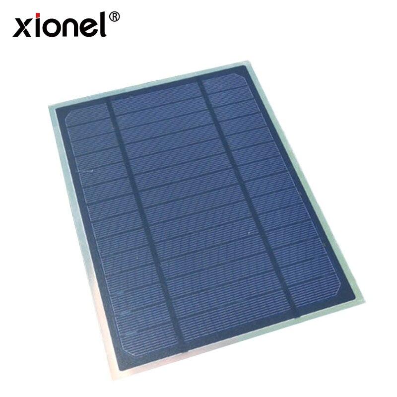Xionel 5W7V Monocrystalline Solar Cell 175*235*2MM For DIY Photovoltaic Mono Solar Panel Matting PET Solar Panels