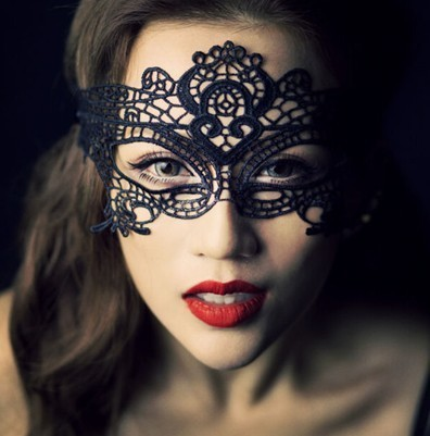 Sexy antifaz party Halloween lace masquerade  party mask black veil  RPG stick mask new carnival venetian mask
