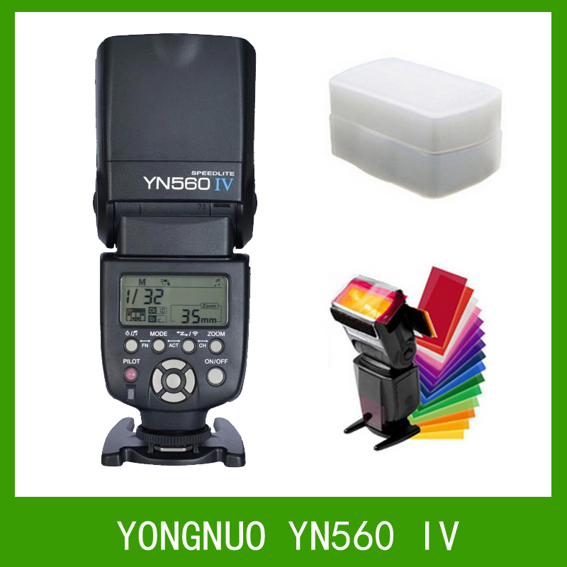 YONGNUO YN560 IV 2.4G Wireless Flash Speedlite for Canon 6D 7D 60D 70D 5D2 5D3 700D 650D,YN-560 IV for Nikon D750 D800 D610 D90 yongnuo yn 560 iv master radio flash speedlite rf 603 ii wireless trigger for nikon d800 d7100 d610 canon 5div 650d camera