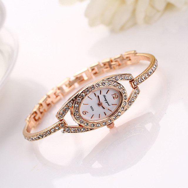 Women Fashion luxury Watches Full Crystal Rhinestone Bracelet Watch Women Dress Reloj Small Dial Delicate Quartz Wristwatch