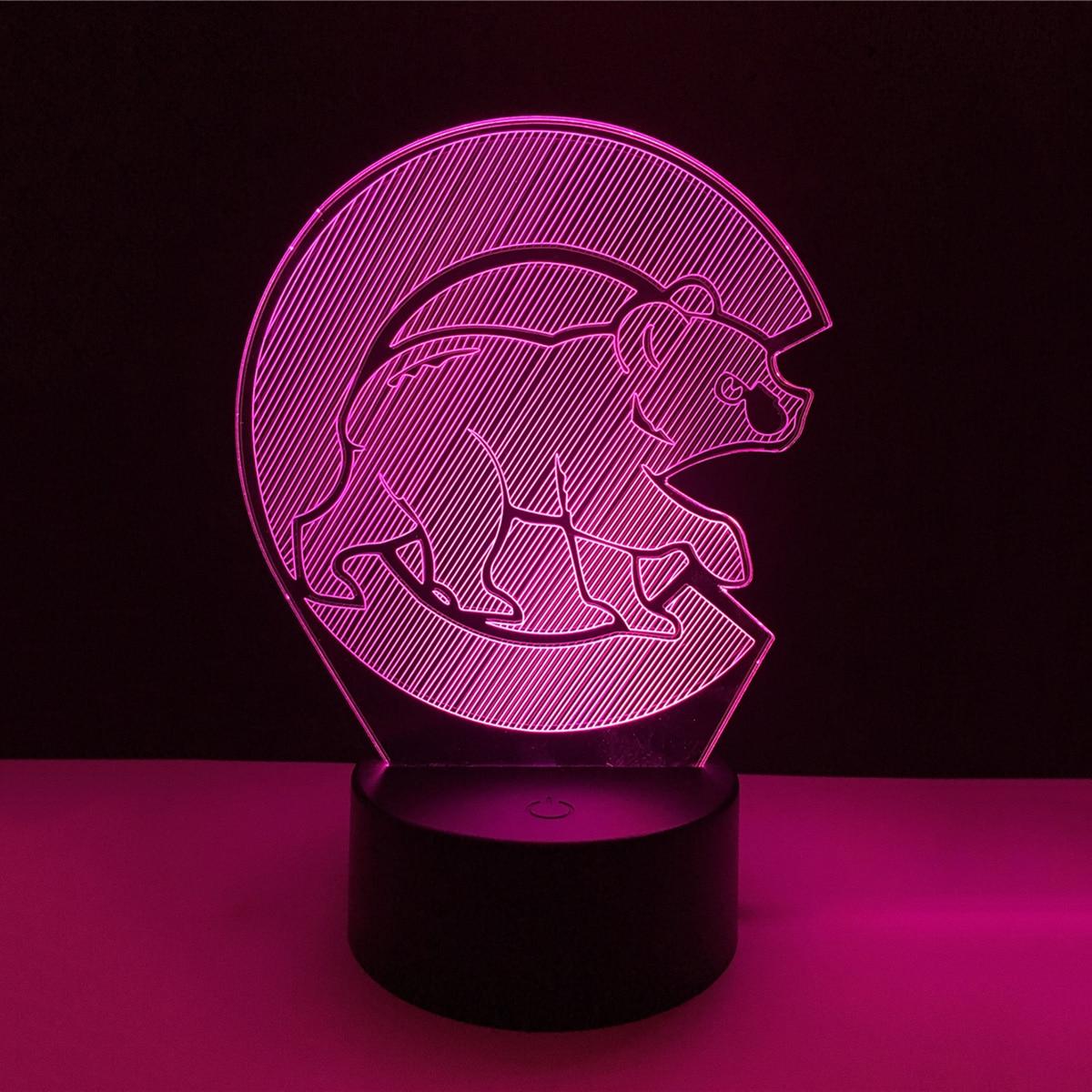 3D panda Acrylic LED Lamp 3D Baby Night Light Sleeping Lighting For Children Night Light Xmas New Years