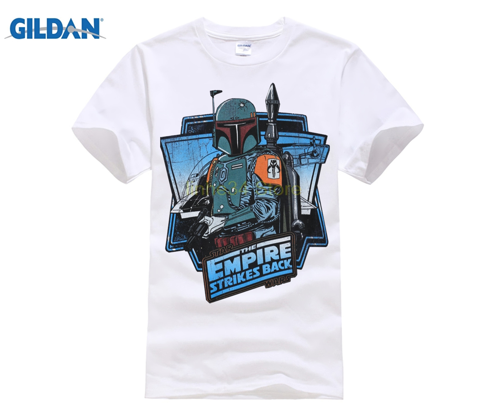41ac3464cb3 GILDAN New Retro T Shirt Men Star Wars Top Tees Empire Strike Back T shirt  Casual 100% Cotton Solid Movie Geek Short Sleeve-in T-Shirts from Men s  Clothing ...