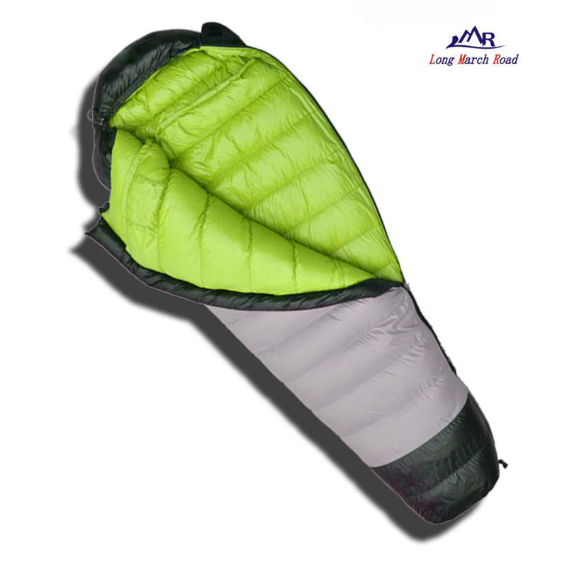 LMR Comfortable White Goose Down Filling 1800g/2000g/2200g Waterproof Can Be Spliced Camping Sleeping Bag Slaapzak Lazy Bag lmr 25c 15c white goose down 1800g filling waterproof comfortable sleeping bag uyku tulumu slaapzak sac de couchage