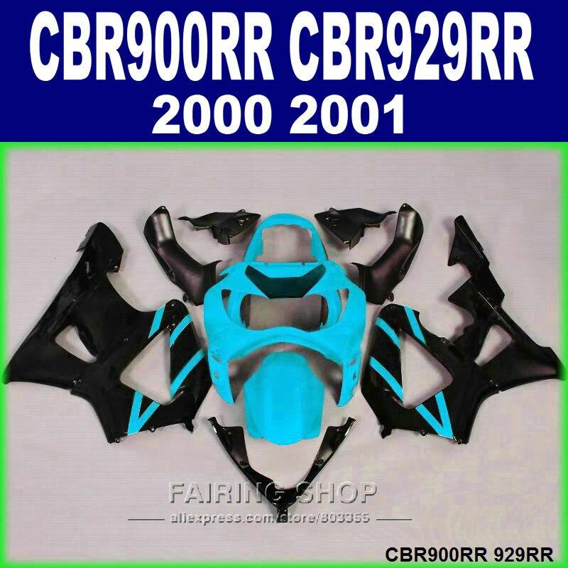 ABS Fairing kit for Honda Injection mold CBR929RR 2000 2001 CBR900RR CBR929 00 01 black green motorcycle fairings set GH5