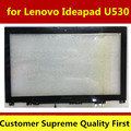 Envío gratis original del ordenador portátil lcd de pantalla para lenovo ideapad u530 69.15107.g02 táctil con marco