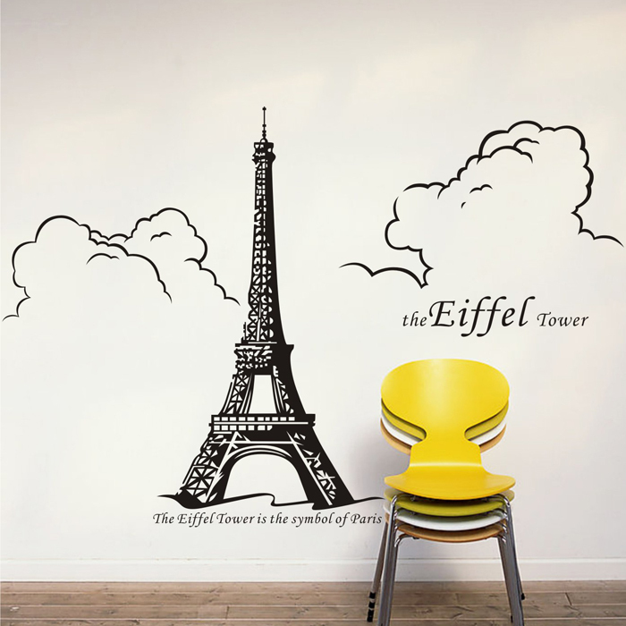 dctal paris sticker paris stickers muraux tour eiffel stickers muraux 75x150 cm tour eiffel. Black Bedroom Furniture Sets. Home Design Ideas
