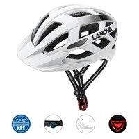 Lanova ciclismo capacete da bicicleta de estrada capacete mtb capacete de bicicleta capacete masculino e feminino  estilo ultra-leve usb recarregável led luz