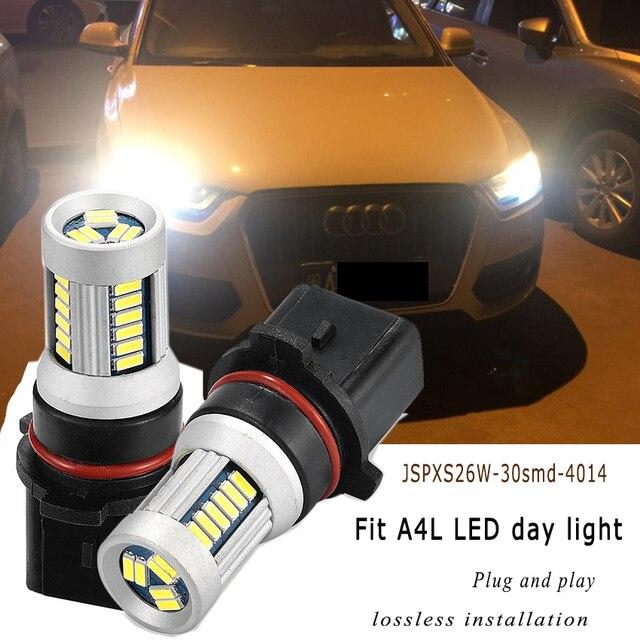JSTOP A4L car led Day Light high quality PSX26W No error canbus Daytime bulbs 6000k 4014smd 500lm 12V lamp Daytime Running Light
