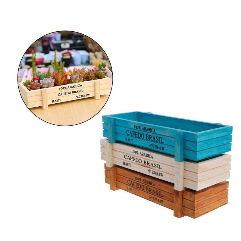 горшок для садового растения декоративный винтажный суккулентный деревянный ящик ящики прямоугольник стол цветочный горшок садовое устройство