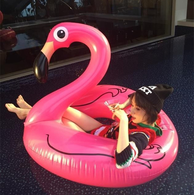 Huge swimming tube pool vison water float inflatable party toys air huge inflatable sea Flamingo (9)
