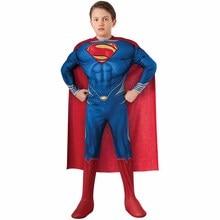 роскошный Детский костюм Человек из стали  Супермен  костюм для мальчиков супергероя нарядное платье на Хэллоуин костюм отлично  для шутки или хохмы