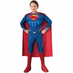 De alta Calidad de Los Niños Superman Ropa Cosplay Traje de Halloween Para Los Niños