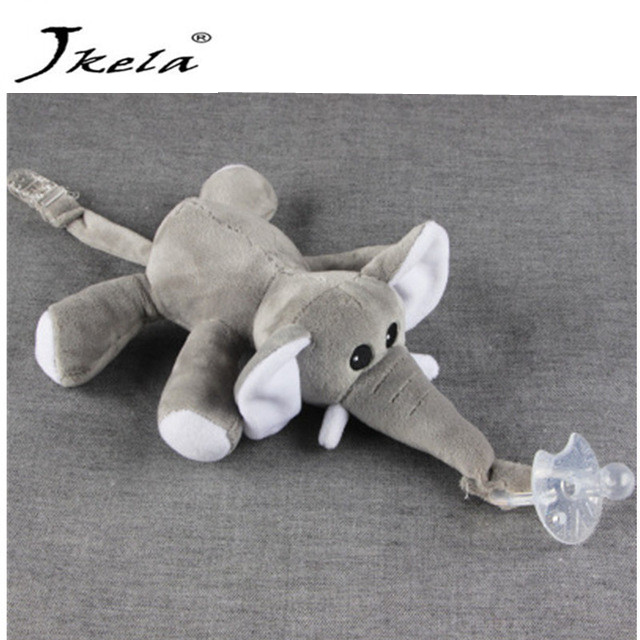 [Jkela] Baby Pacifier Removable With Lid Toy Pacifiers Dummy Feeding Elephant Silicone Nipple For Newborns gifts for children