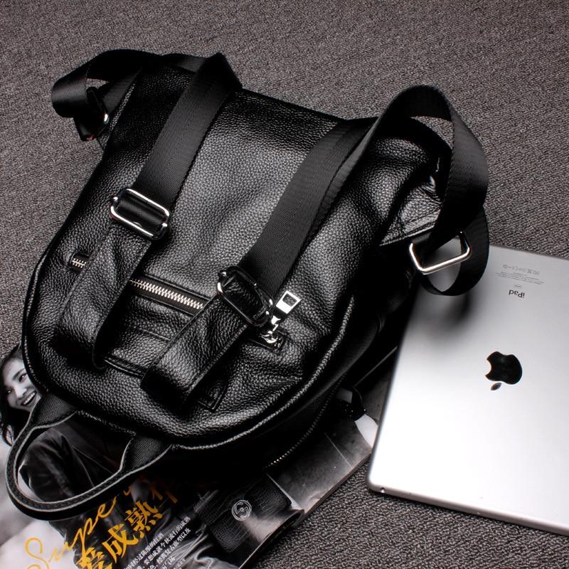 mochila preta escola sacolas da Estilo : Vintage/ Fashion/casual