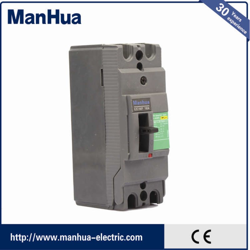Mahua 2017 innovative product 100 amp 2P small size EZC electrical automatic molded case circuit breaker price EZC100F 100A