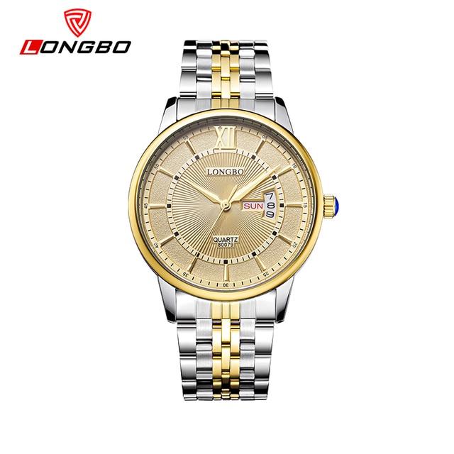 LONGBO Brand Quartz Stainless Steel Watch Watches Wristwatches