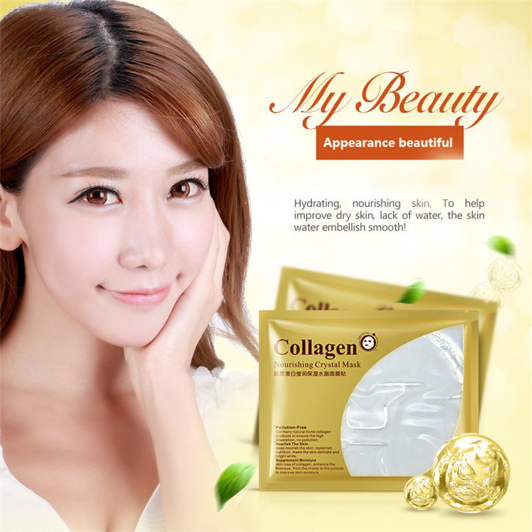 5pcs Bioaqua 24K Gold Mask Crystal Collagen Powder Face Mask No Wash Korean Face Masks Moisturizing Anti-aging Facial Skin Care 1