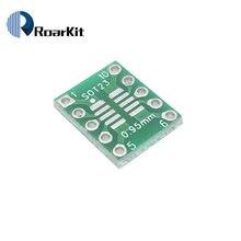 Adaptador de placa smd para dip10, placa adaptadora de smd para dip10, desax 0.5mm/0.95mm a 2.54mm pcb, com 10 peças