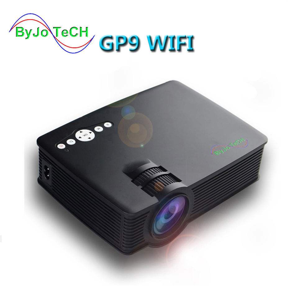 ByJoTeCH GP-9 WIFI Projector Mini LED projector Full HD Portable Home theater projector LCD Video proyector HDMI GP9 poner saund gp 9 mini led projector 3d multimedia projector full hd home theater projector video portable cinema proyector gp9