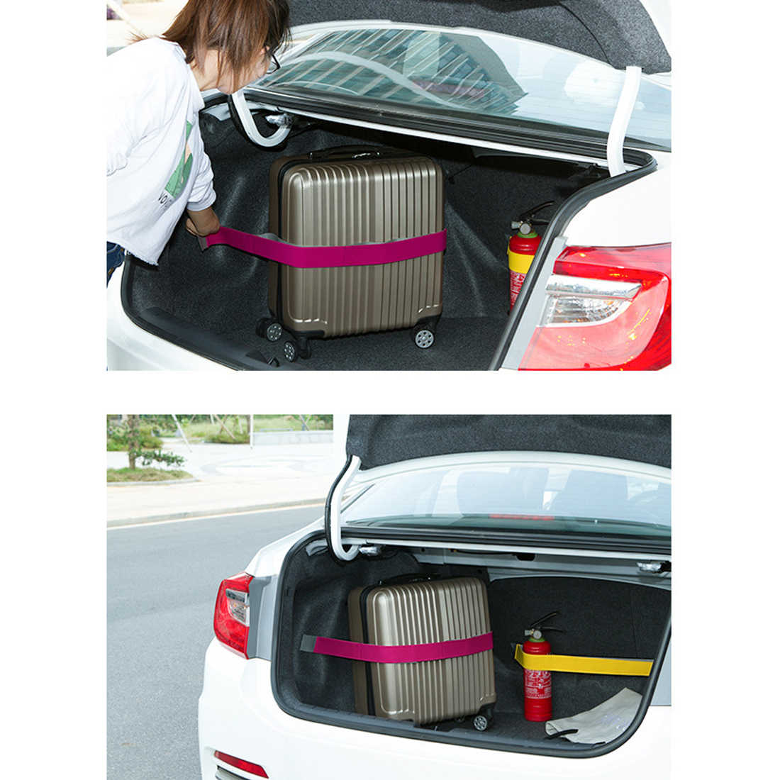 Promotion Car Trunk Organizer Elastic Car-styling Color Strap Fixed Sundry Stowing Tidying Auto Interior Accessories Dewtreetali