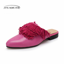 купить Women sandals oxford shoes woman genuine leather flat shoes gladiator oxfords summer sandals for women's slippers 2019 дешево
