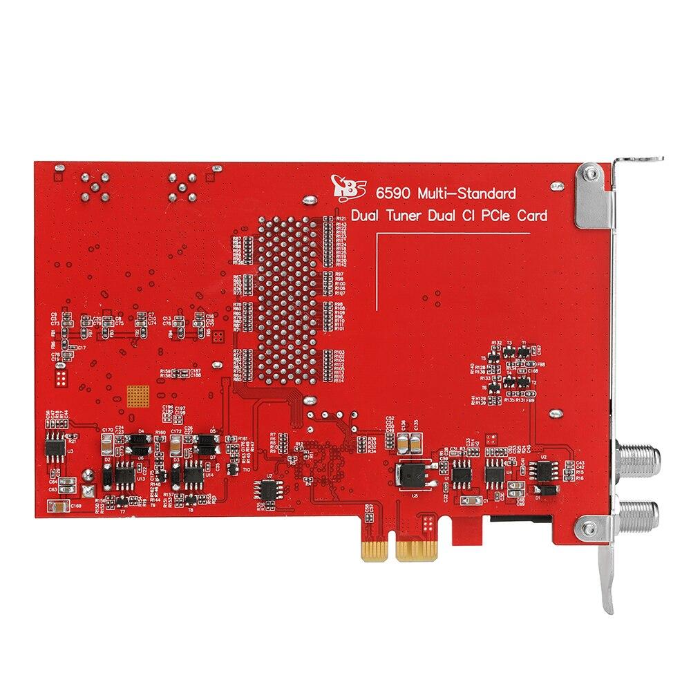TBS2951 Professionelle IPTV Streaming Server mit 4x TBS6590 Muti standard Dual Tuner Dual CI PCI e Karte für - 4