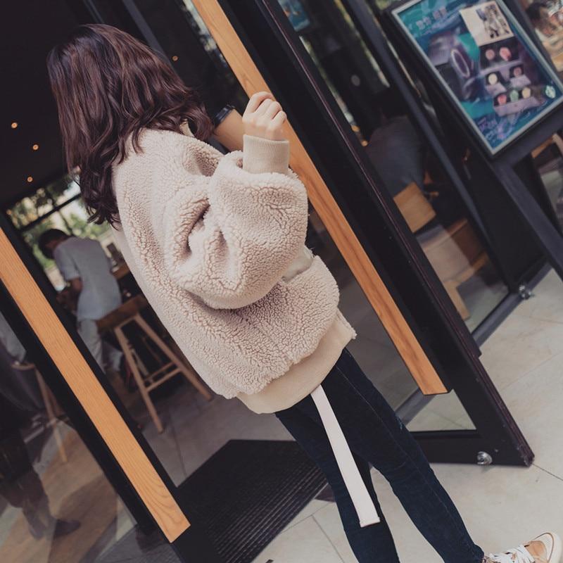 Couture Femmes Innis D'hiver Dames Et Nouveautés Agneau D'agneau Manteau Solide 2019 Pink Laine Nouveau Chaud Couleur Automne Coréennes Veste vA8Aw5qF