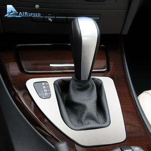 Image 2 - Airspeed Car Control Gear Shift Panel Cover Gearshift Panel Frame Trim Mouldings for BMW E90 E92 3 Series 2005 2012 Car Styling
