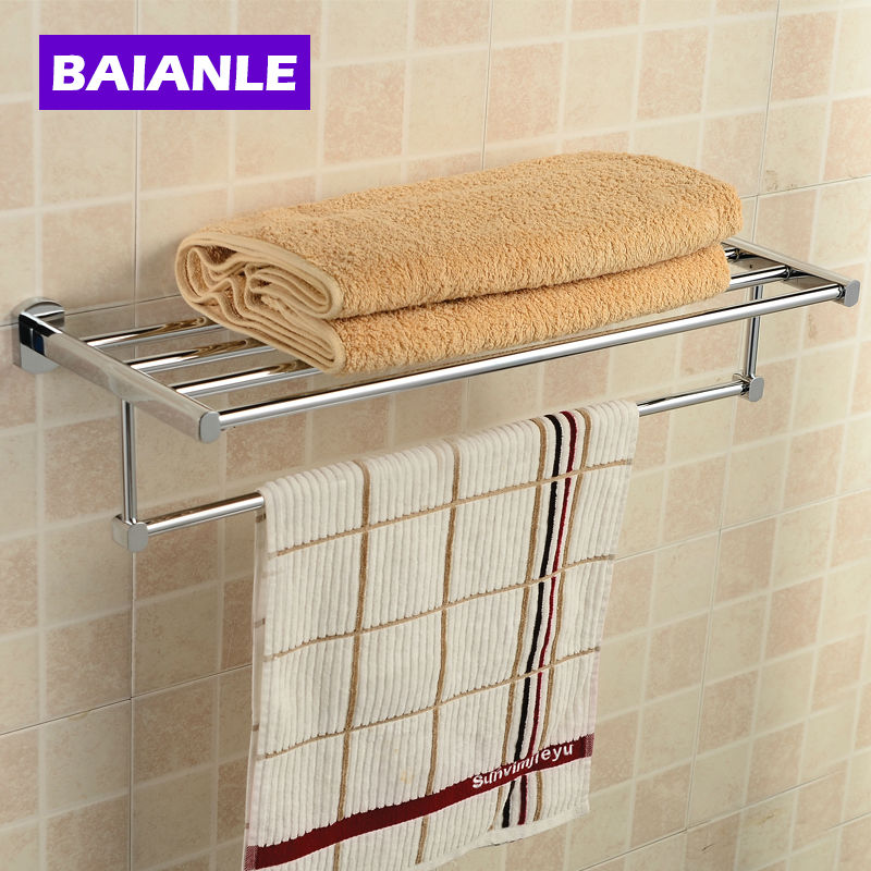 New arrival Bathroom Accessories Classic Copper  Finish Bathroom Towel Rack Bar Shelf (Wall Mounted)