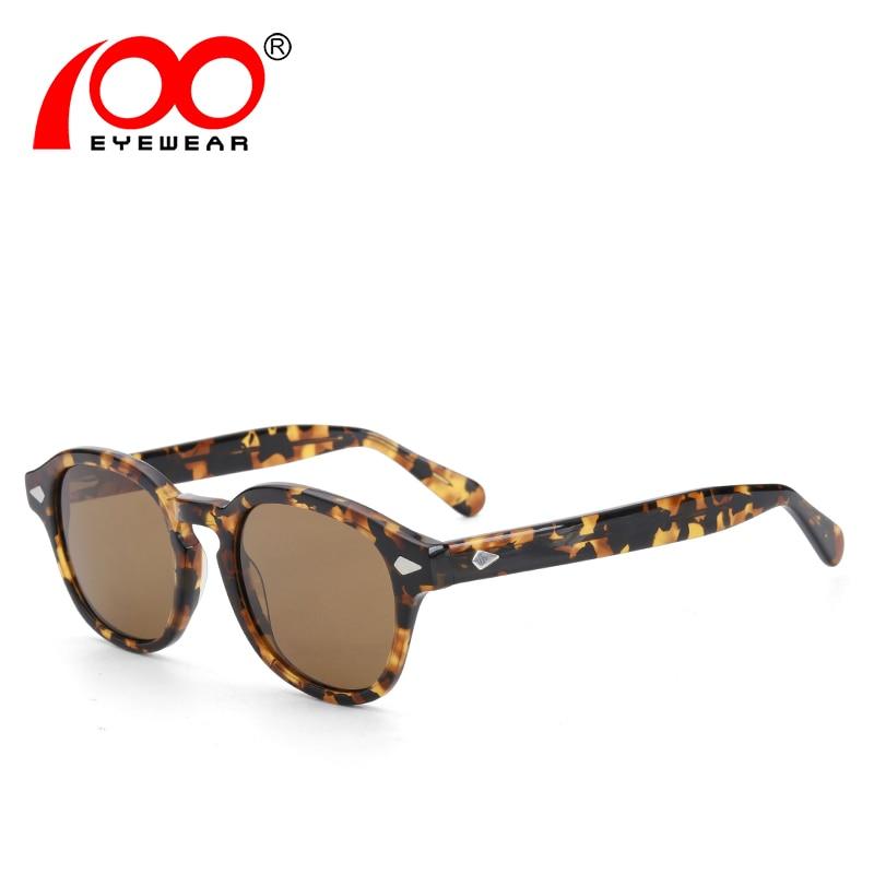 Haute Qualité Acétate Vintage Johnny lunettes de Soleil Hommes Femmes Rétro  Depp Lunettes de Soleil d112cd09d182