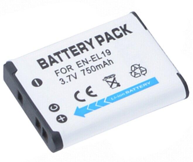EN-EL19 EN EL19 ENEL19 Batterie pour Nikon Coolpix S5200, S5300, S6400 APPAREIL, S6500, S6600, S6700, S6800, S6900, S7000 Numérique Caméra